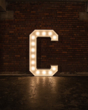 'C' Marquee Light