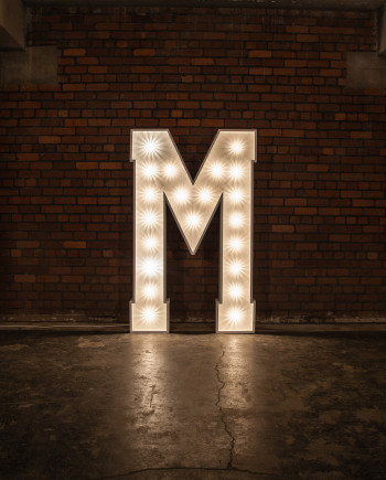 'M' Marquee Light